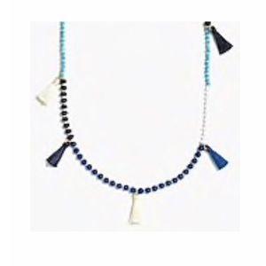 J. CREW Beaded Tassel Necklace - NWT